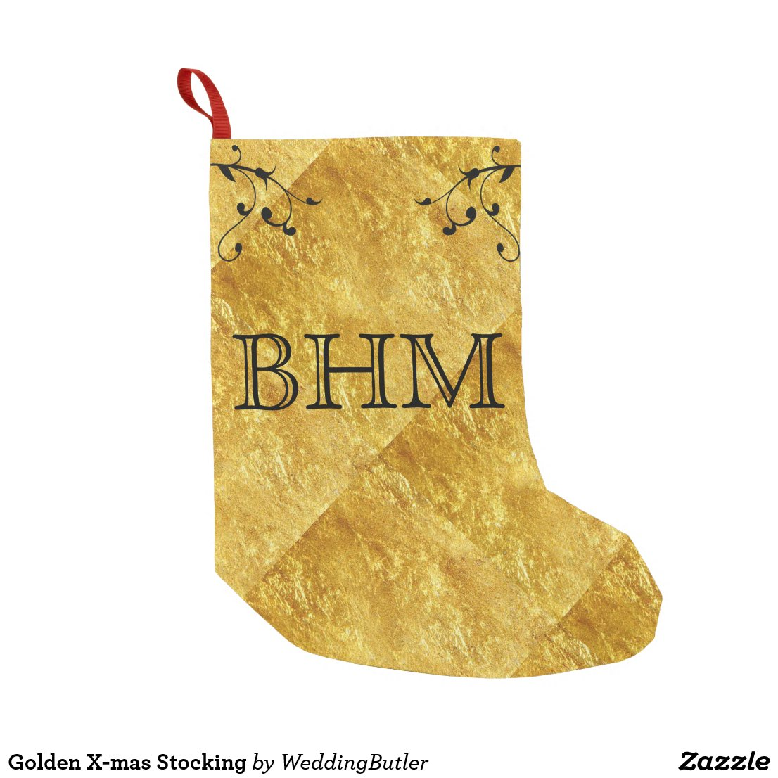 Golden X-mas Stocking