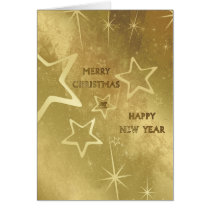 stars, sparkles, xmas, christmas, holidays, merry, happy, joyful, joy, december, winter, gold, snow, snowflakes, Card with custom graphic design