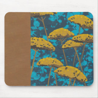 Golden Yarrow Garden with Blue Background Mouse Pad