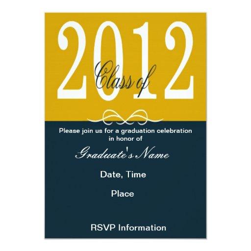 Golden Year Class of 2012 Graduation Invitations
