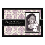 Golden Years Damask Birthday Party Invite (lilac)