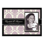 """Golden Years Damask Birthday Party Invite (lilac) 5"""" X 7"""" Invitation Card"""