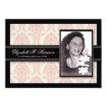"""Golden Years Damask Birthday Party Invite (pink) 5"""" X 7"""" Invitation Card"""