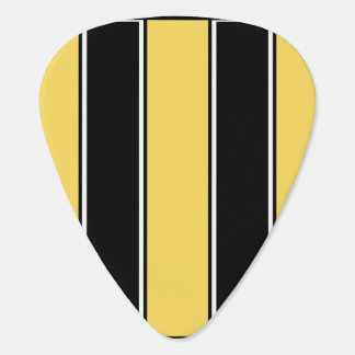 Golden Yell and Black-Striped Standard Guitar Pick