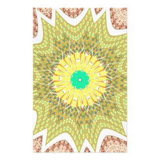 gOLDEN YELLOW African ethnic tribal pattern Stationery