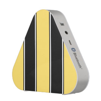 Golden Yellow and Black-Striped Bluetooth Speaker