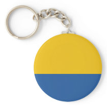 Golden Yellow and Royal Blue Keychain