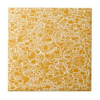 Golden Yellow and White Mini Tile Design