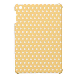 Golden Yellow and White Polka Dots Case For The iPad Mini
