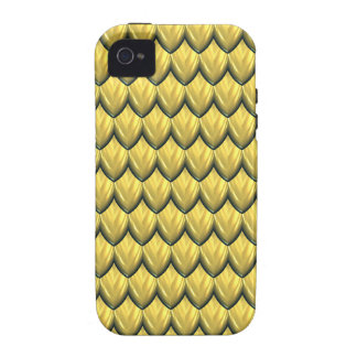 Golden Yellow Armor Texture. Stunning.Scales Vibe iPhone 4 Case