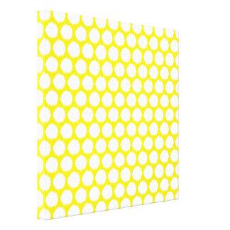 Golden Yellow Asian Moods Ikat Dots Canvas Print