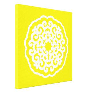 Golden Yellow Asian Moods Mandalla Canvas Prints