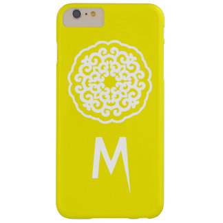 Golden Yellow Asian Moods Mandalla with initial Barely There iPhone 6 Plus Case