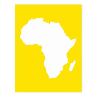 Golden Yellow Audacious Africa Postcard