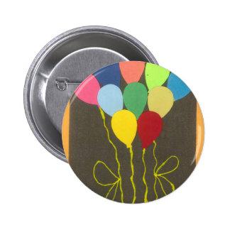 Golden Yellow Birthday Pinback Button