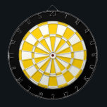 "Golden Yellow Black And White Dartboard With Darts<br><div class=""desc"">Golden Yellow Black And White Dart Board</div>"