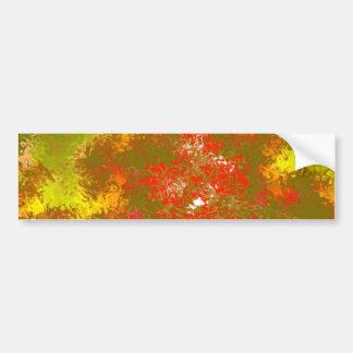 Golden Yellow & Burnt Orange Abstract Bumper Sticker