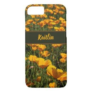 Golden Yellow California Poppy Flowers Photo iPhone 8/7 Case