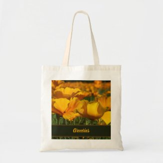 Golden Yellow California Poppy Flowers Photo Tote Bag