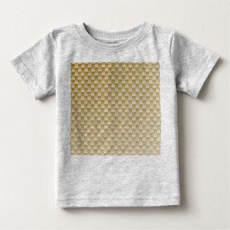 Golden Yellow Carbon Fiber Patterned Baby T-Shirt