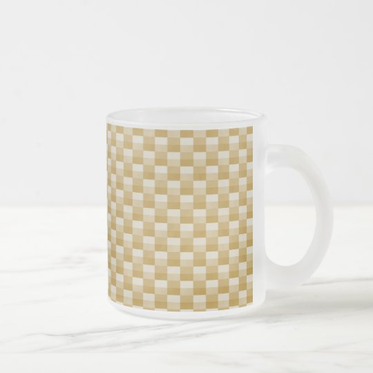 Golden Yellow Carbon Fiber Patterned Frosted Glass Coffee Mug