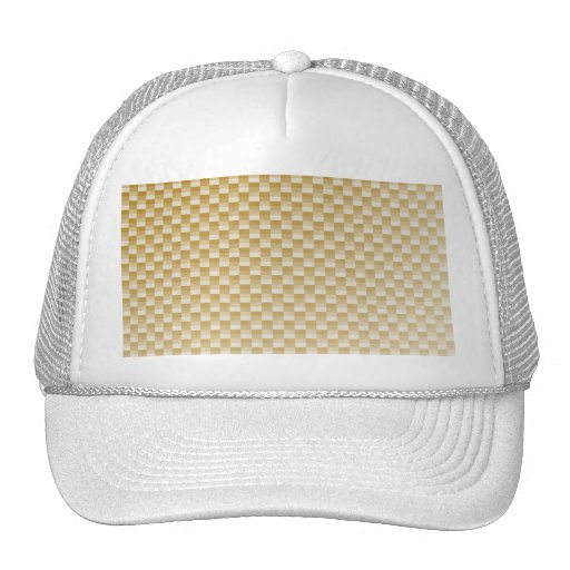 Golden Yellow Carbon Fiber Patterned Hat