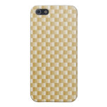 Golden Yellow Carbon Fiber Patterned Cases For iPhone 5