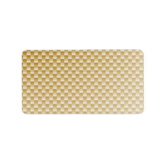 Golden Yellow Carbon Fiber Patterned Address Label