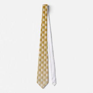 Golden Yellow Carbon Fiber Patterned Neck Tie