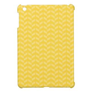 Golden Yellow Chevron Pattern iPad Mini Cover