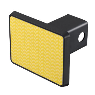 Golden Yellow Chevron Pattern Hitch Cover