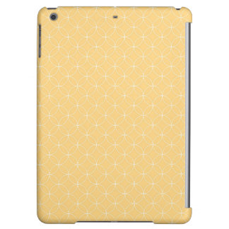Golden Yellow Circles Pattern iPad Air Covers
