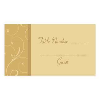 Golden Yellow Custom Wedding Table Place Cards Double-Sided Standard Business Cards (Pack Of 100)