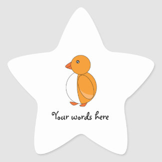 Golden yellow cute penguin stickers