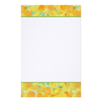 Golden Yellow Daffodils Stationery or Notepaper
