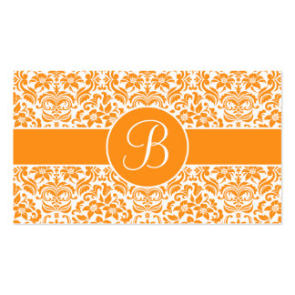 Golden Yellow Damask Wedding Gift Registry Card Business Card Template