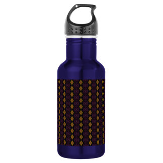 Golden Yellow Diamonds Stainless Steel Water Bottle