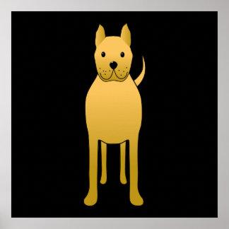 Golden Yellow Dog. Poster