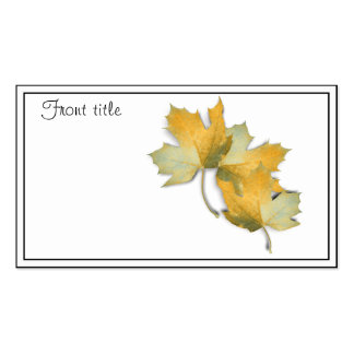 Golden Yellow  Fall Leaves Business Card Template
