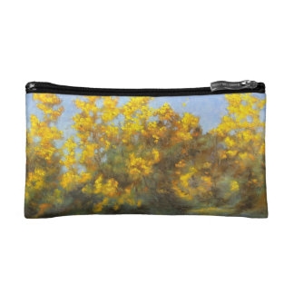 Golden Yellow Fall Trees Cosmetic Bag
