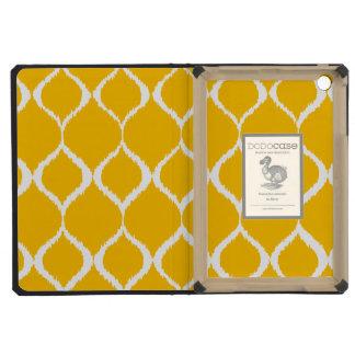 Golden Yellow Geometric Ikat Tribal Print Pattern iPad Mini Cases