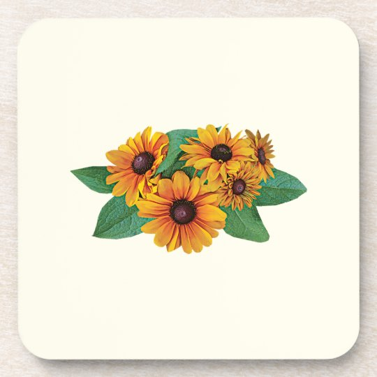 Golden Yellow Gerbera Daisies Drink Coaster