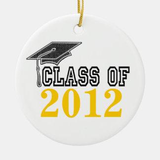 Golden Yellow Graduating Class of 2012 Ornament