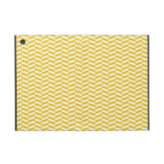 Golden Yellow Herringbone Pattern Case For iPad Mini