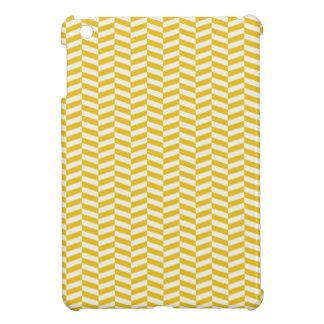 Golden Yellow Herringbone Pattern iPad Mini Covers