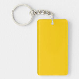 Golden Yellow Double-Sided Rectangular Acrylic Keychain