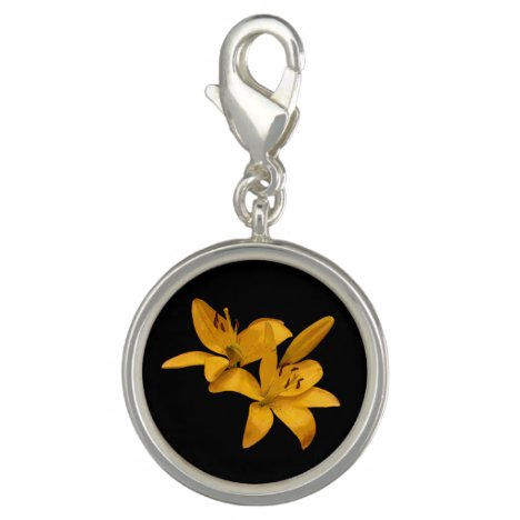 Golden Yellow Lilies Charm