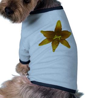 Golden Yellow Lily Dog T-shirt