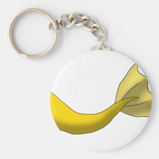 Golden Yellow Mermaid Tail Keychain