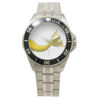 Golden Yellow Mermaid Tail Watch